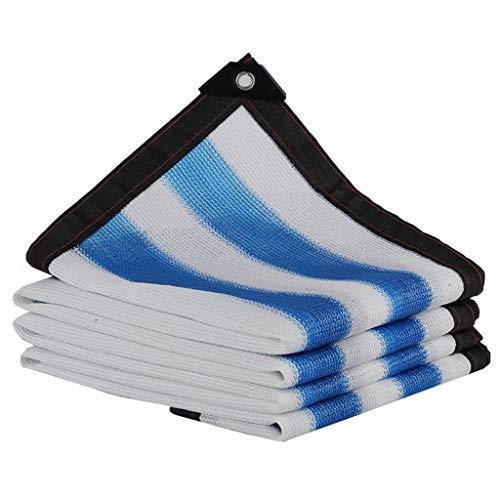 Zonblok Schaduwdoek UV Bestand Schaduwnet Dekzeil voor Raam/RV Luifel, Zonwering, Kas Patio Tuinplant Cover - Blauw+Wit