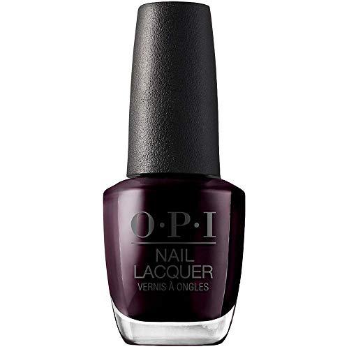 OPI Nail Laquer - Esmalte Uñas Duración de Hasta 7 Días, Efecto Manicura Profesional, 'Black Cherry Chutney' Morado - 15 ml