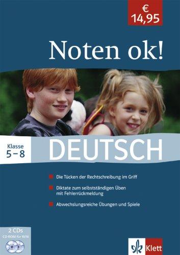 Preisvergleich Produktbild Noten ok! Deutsch Klasse 5-8