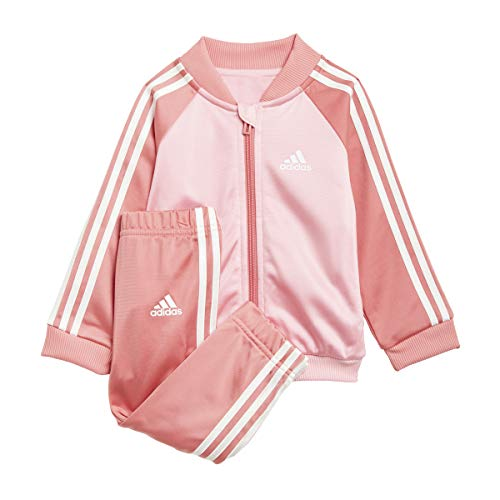 adidas I 3S TS TRIC Chándal, Top:Light Pink/White Bottom:Hazy Rose s21/white, 2-3A para Bebés