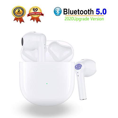 AIR Bluetooth Kopfhörer In Ear Bluetooth Kopfhörer Kabellos Touch Control Bluetooth 5.0 Headset ,Sport-Headset Kabellose Kopfhörer Stereo-Ohrhöer Wireless Kopfhörer mit Integriertem Mikrofon