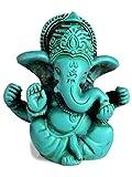 BUDDHAFIGUREN Estatua de Buda/Hindu - Ganesha Ganesh Ganapati 3 cm - Resina - Turquesa...