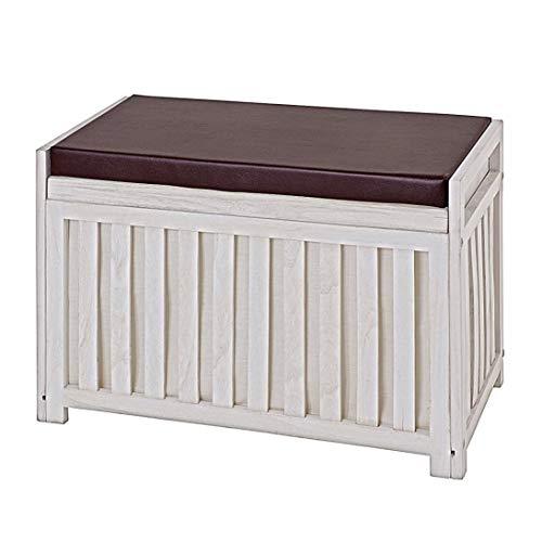 HAKU Möbel 26320 Bank, weiß gewischt, 65x33x46cm - 2