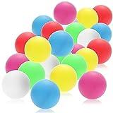 com-four® Pelotas de Tenis de Mesa 24x, Pelotas de Tenis de Mesa de Colores de tamaño estándar, Pelotas de Juego para Ping-Pong y Beer-Pong, Pelotas de Entrenamiento de 40 mm (Multicolor)