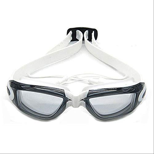 ZPF OcchialiOcchialini da Nuoto per Bambini con Tappi per Le Orecchie congiunti HD Occhiali da Nuoto Antiscivolo Ragazzi Ragazze Occhiali da Nuoto antiappannamentoNero Bianco