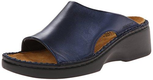 Naot Women s Rome Wedge Sandal, Polar Sea Leather, 38 EU 7 M US