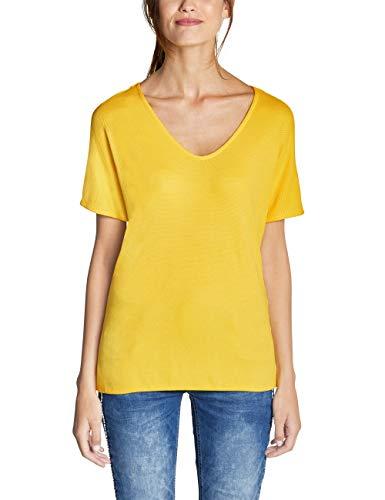Street One Damen Insine T-Shirt, Gelb (Creamy Lemon 11848), 40
