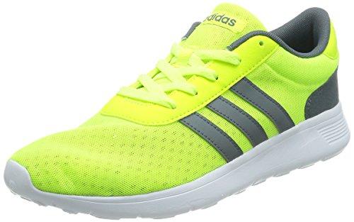 Adidas Lite Racer - Scarpe da sport, da uomo, multicolore (Multicolore - Amarillo / Blanco (Amasol / Plomo / Ftwbla)), 46 EU