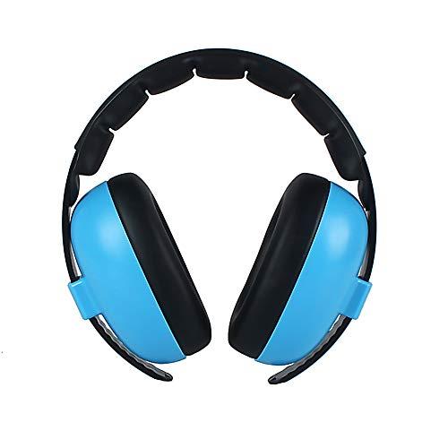 Casque anti-bruit pour enfants - Bandeau rembourré pour dormir - Protection auditive réglable - Bleu