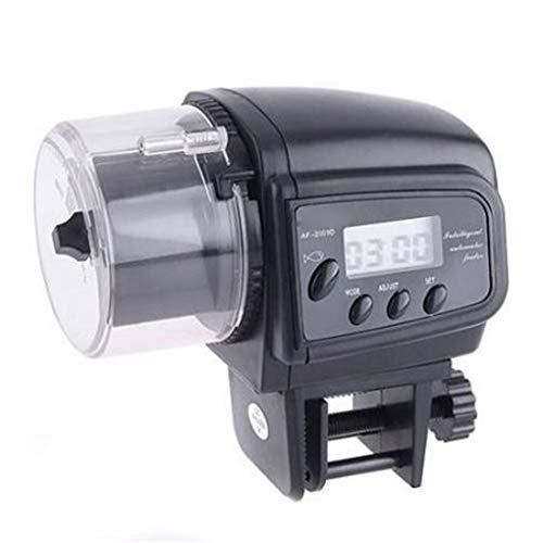 rongweiwang Alimentador automático de Pescado Peces de Acuario Tanque alimentadores automático del depósito Comederos automáticos Función de Temporizador, Alimentación dispensador de líquido Indica