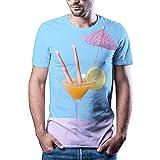 HYTR 3D Camisetas Divertida Camiseta De Hombre De Hip Hop con Estampado 3D De Mujer Camiseta De Manga Corta Estilo De Alojamiento Original Camiseta S