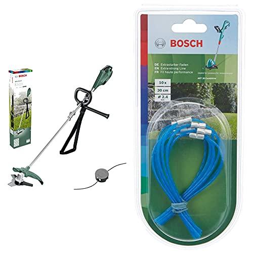 Bosch Elektro Freischenider Motorsense AFS 23-37 (950 W, SchnittkreisØ: 23 cm (Messer), 37 cm (Faden), FadenØ: 3,5 mm, im Karton) & Trimmerfaden extra stark / 30 cm Art 30 combitrimm