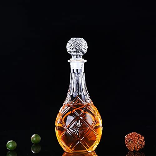 SHANGZHI Whisky Flasche mit Deckel Bleifrei Karaffe Kristall Bottle 500ml-1000ml Kristallglas Geschenke für Wasserglas,Cocktailbecher,Whisky,Wasser,Saft,Bier,Rotwein, Glaswaren