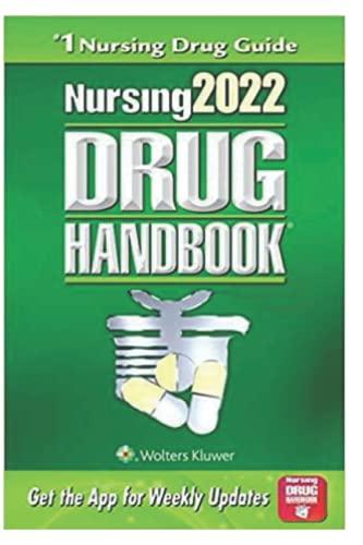 Nursing2022 Drug Handbook: (Nursing Drug Handbook)