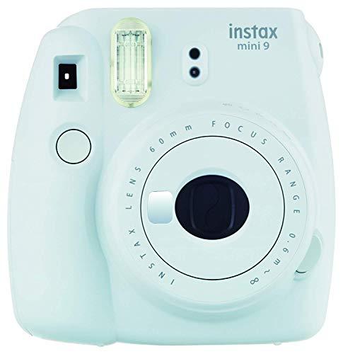 Fujifilm Instax Mini 9 Ice Fotocamera per Stampe, Formato 62 x 46 mm, Compatibile con pellicola fujifilm instax mini, Azzurro