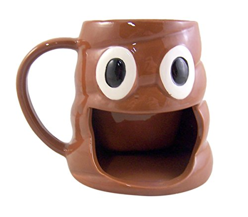 Emoji Poop Coffee Mug With Big Mouth Cookie Holder 10 Ounce Buy Online In China At Desertcart Com Productid 61538687