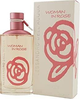 Woman In Rose By Alessandro Dell Acqua For Women, Eau De Toilette Spray, 3.4-Ounce Bottle by Alessandro Dell'Acqua