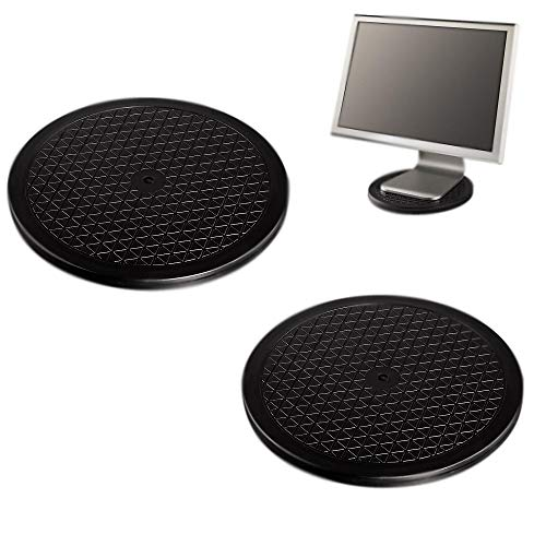 2X Ø25cm Drehplatte für PC Monitor | 360° Drehteller | Drehscheibe bis 100 kg | Servierplatte | Untersetzer für Pflanzen - Rund