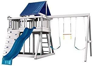 CONGO Monkey Playsystem #1 with Swing Beam - White and Sand Low Maintenance Play Set