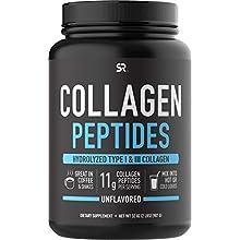 Collagen Peptides Powder 'XL' Jar 32oz | Non-GMO Verified, Certified Paleo Friendly & Gluten Free - Unflavored