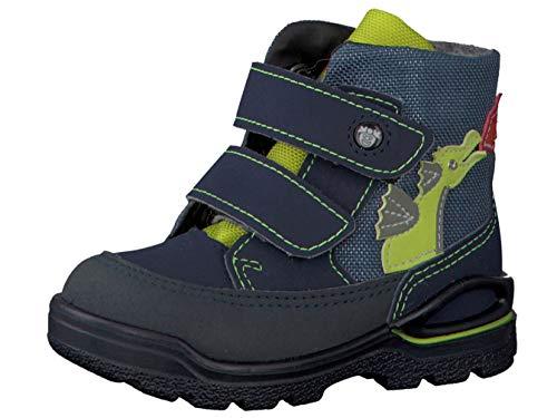 RICOSTA Pepino Jungen Winterstiefel BIXI, WMS: Weit, wasserfest, Winter-Boots Outdoor-Kinderschuhe lammfell-Stiefel,Nautic/Nebel,22 EU / 5.5 UK