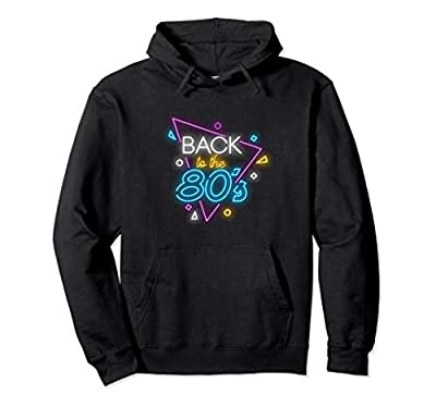 Back to the 80s Neon Sign Hoodie for Adults, 5 Colours