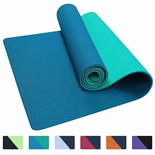 IUGA Yoga Mat Non Slip Textured Surface, Reversible Dual Color, Eco Friendly Yoga Mat with...