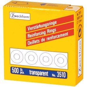 AVERY Zweckform 10 x Lochverstärkungsringe transparent VE=500 Stück