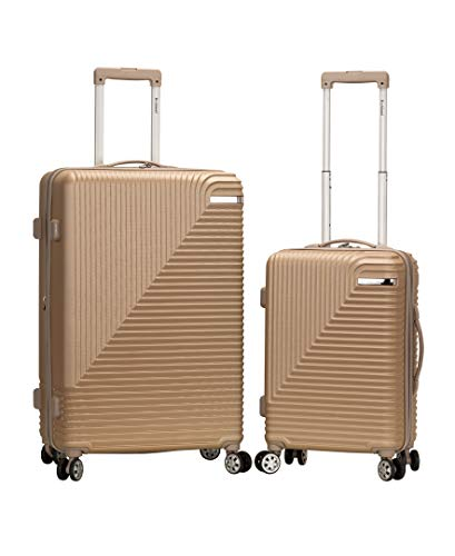 Rockland Star Trail Hardside Spinner Wheel Luggage, Champagne, 2-Piece Set (20/28)