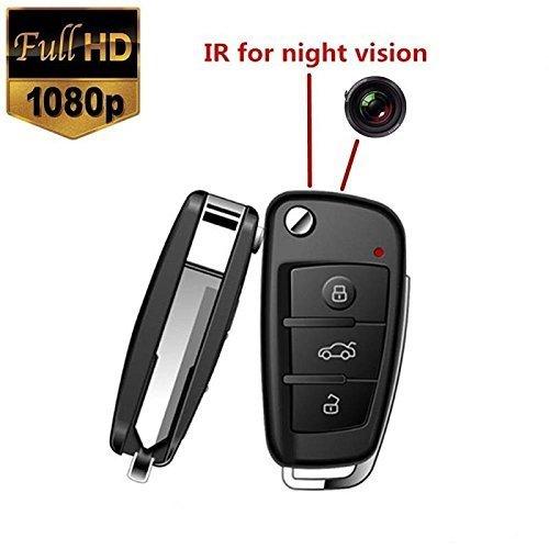 Car Key Camera Mini Camera1080 DVR Multifunctional Hd Cam Car Key DVR IR Night Vision with Motion Dectect NO WIFI