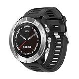 ZGLXZ Smart Watch Fitness Tracker Ritmo Cardíaco Presión Arterial Pulsera De Monitoreo IP68 Deportes Impermeables Smartwatch para iOS Android Teléfono,Plata