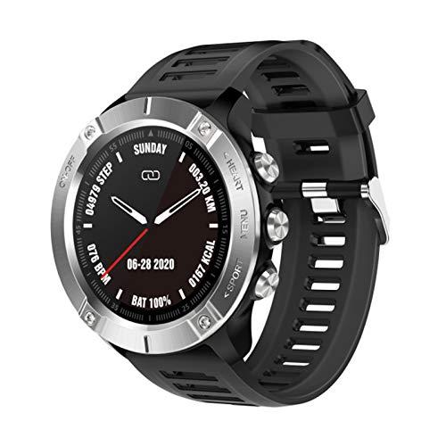 XYZK MC01 Smart Watch Heart Rate Pase Soulsion Monitoring Monitoreo Smartwatch Men's Sports Tracker Watch para Android iOS,B