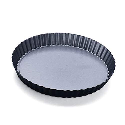 9 Inch Pie Pan, Koolstofstaal anti-aanbaklaag Flan Tin/Quiche Pan met losse basis voor Kaas Taarten, Chocolade Taarten, Muffins, Cupcakes, Brownies, 24 cm Diameter(Nine inchesBlack) nine inches Zwart