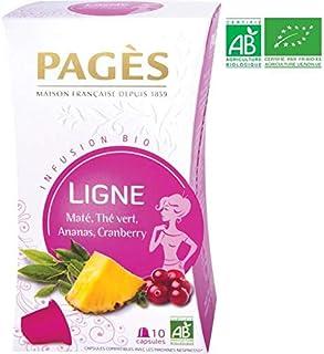 Pagès Infusion Bio Ligne Maté/Thé Vert/Ananas/Cranberry - 10 Capsules Compatibles Avec Les Machines Nespresso - Lot De 3