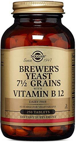 Solgar Levadura de Cerveza con Vitamina B12, Envase de 250 Comprimidos