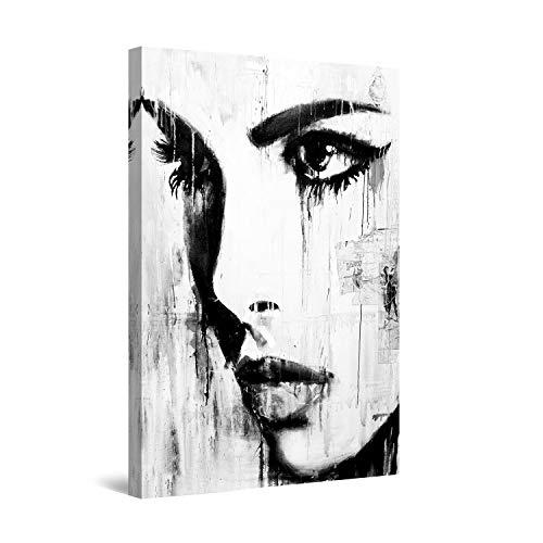 Startonight Leinwandbilder Schwarz und Weiß Abstraktes Tiefen, Doppelansicht Überraschung Modernes Dekor Kunstwerk Gerahmte Wand Kunst 100{6c9957b9fb3c535260d408a64669de98dff5971b42930f080920321d8b821190} Ursprüngliche Fertig zum Aufhängen 80 x 120 CM