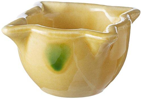 FACKELMANN Keramik Mörser für Saucen, Gelb, 9 x 4,5 cm