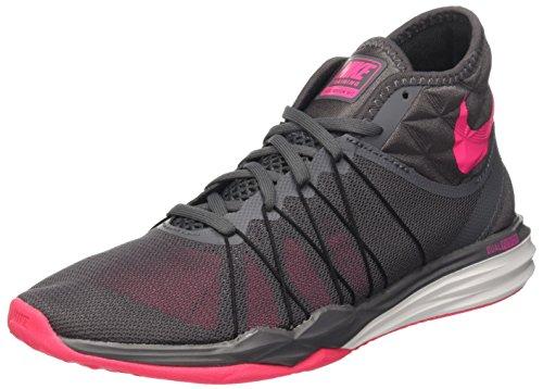 Nike Nike Damen W Dual Fusion Tr Hit Mid Gymnastikschuh, Dark Grey Hyper Pink Black White, 40 EU