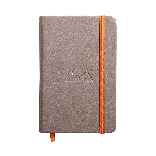 Rhodia 118722C boek Rhodiama, notitieboek met elastiek, 96 vellen blanco A6 Mollen.