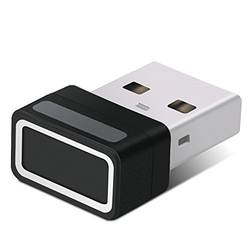 USB Fingerprint Reader Login Win10 - Power Trend Password Free Plug and Play 360 Degree Touch Speedy Recognition Mini Sensor Register Dongle with WQHL FIDO Certification for Windows Hello