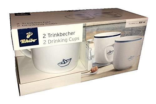 2 Porzellan Tassen Papier Schiff Trinkbecher Kaffeetassen Schiffchen