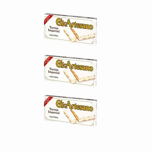 Lote 3 pastillas de Turrón duro de almendras 200 gr. Sin Azúcar - El Artesano