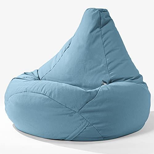 Big Bertha Original, SoleiStorm Ultra 2000 h+ Gaming Sitzsack Sessel mit Hocker, Olefin Baby Blau