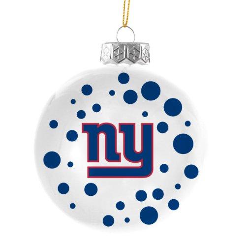 NFL New York Giants Polka Dot Ball Christmas Tree Ornament