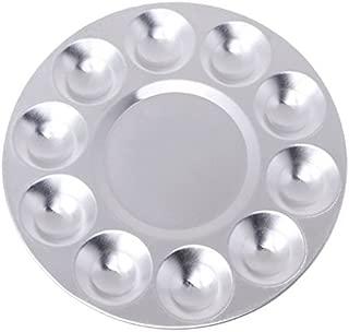 Paint Palette Aluminum Watercolor Plate Paint Tray 10 Holes Painting Pigment Plate