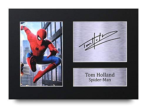 HWC Trading Tom Holland A4 Sin Marco Regalo De Visualizacion De Fotos De Impresion De Imagen Impresa Autografo Firmado por Spiderman Los Aficionados Al Cine