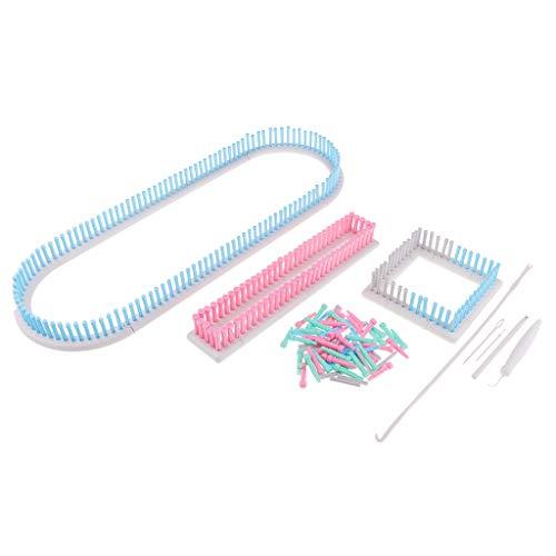 perfk Set Strickrahmen-Set Strickring Knitting Loom Stricken Strickhilfe für Pullover, Hosen, Minirock, Schal, Mütze
