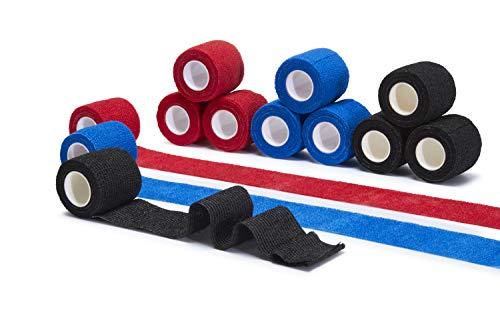 Tindola MAX® Haftbandage - 12 Rollen selbstklebender Bandage als Verband oder Fixierbinde, elastische & selbsthaftende Bandage