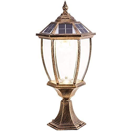 Leampp Lamp op zonne-energie, retro industriële aluminiumzuil, vintage-waterdichte solar-led-glaszuil, instelbare tuinvilla, street, parkeerverlichting naar licht