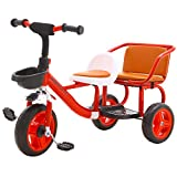 Baybee Twin Seat Kids Tricycle Convertible Baby Tricycle Kid's Trike with Parental Adjust